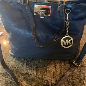 Michael Kors Navy Shoulder Bag